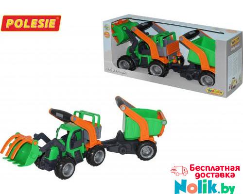 Детская игрушка  трактор-погрузчик с полуприцепом (в коробке) ГрипТрак арт. 37411. Полесье в Минске