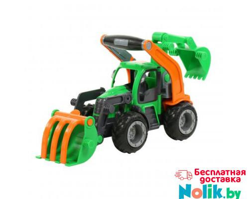 Детская игрушка  трактор-погрузчик с ковшом (в сеточке) ГрипТрак арт. 48394. Полесье в Минске