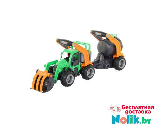 Детская игрушка  трактор-погрузчик с цистерной (в сеточке) ГрипТрак арт. 48424. Полесье в Минске