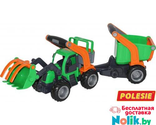 Детская игрушка  трактор-погрузчик с полуприцепом (в сеточке) ГрипТрак арт. 48431. Полесье в Минске