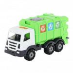 Детская игрушка автомобиль коммунальный №2, мусоровоз Престиж арт. 73211. Полесье
