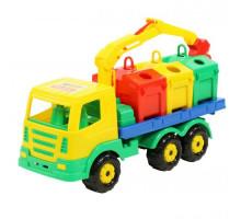 Детская игрушка автомобиль-контейнеровоз Престиж арт. 44181. Полесье