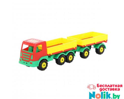 Детская игрушка автомобиль бортовой с прицепом Престиж арт. 44150. Полесье в Минске