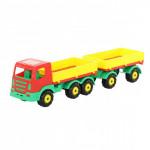 Детская игрушка автомобиль бортовой с прицепом Престиж арт. 44150. Полесье