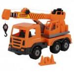 Детская игрушка автомобиль-кран №2 (в сеточке) Престиж арт. 70579. Полесье