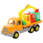Детская игрушка автомобиль для перевозки зверей Сталкер арт. 44303. Полесье