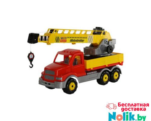 Детская игрушка автомобиль-кран с поворотной платформой (в сеточке) Сталкер арт. 56511. Полесье в Минске