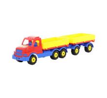 Детская игрушка автомобиль бортовой с прицепом Сталкер арт. 44259. Полесье