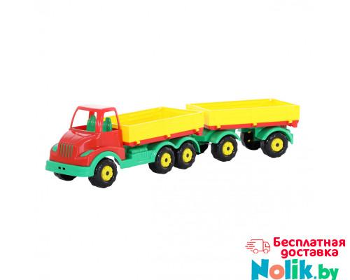 Детская игрушка автомобиль бортовой с прицепом Муромец арт. 44051. Полесье в Минске