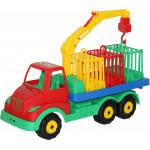 Детская машинка для перевозки зверей Муромец арт. 44105. Полесье