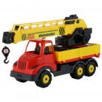 Детская игрушка автомобиль-кран с поворотной платформой (в сеточке) Муромец арт. 56535. Полесье