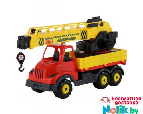 Детская игрушка автомобиль-кран с поворотной платформой (в сеточке) Муромец арт. 56535. Полесье в Минске