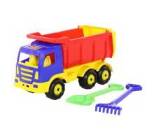 Детская игрушка автомобиль-самосвал + лопата и грабли большие Премиум арт. 9851. Полесье
