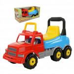 Детская игрушка  Каталка-автомобиль Буран №2 (красно-голубая) (в коробке) арт. 67128. Полесье