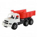 Детская игрушка автомобиль-самосвал (бело-красный) Буран №3 арт. 43672. Полесье