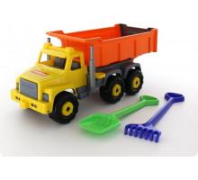 Детская игрушка автомобиль-самосвал + лопата и грабли большие Супергигант арт. 5557. Полесье