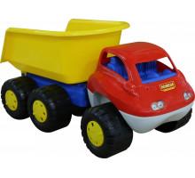 Детская игрушка автомобиль-самосвал с прицепом (в пакете) Дакар арт. 46116. Полесье