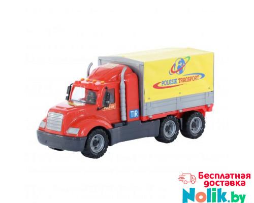 Детская игрушка автомобиль бортовой тентовый (в сеточке) Майк арт. 55569. Полесье в Минске