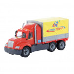 Детская игрушка автомобиль бортовой тентовый (в сеточке) Майк арт. 55569. Полесье