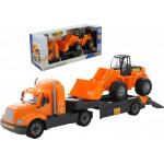 Машинка Полесье трейлер + трактор-погрузчик (в коробке) Майк арт. 55736