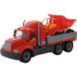 Детская игрушка автомобиль бортовой +  автомобиль-самосвал (в сеточке) Майк арт. 55491. Полесье