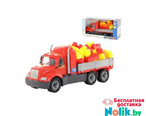 Детская игрушка автомобиль бортовой + конструктор Супер-Микс - 60 элементов (в коробке) Майк арт. 55507. Полесье в Минске