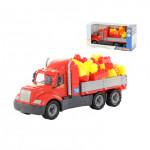Детская игрушка автомобиль бортовой + конструктор Супер-Микс - 60 элементов (в коробке) Майк арт. 55507. Полесье