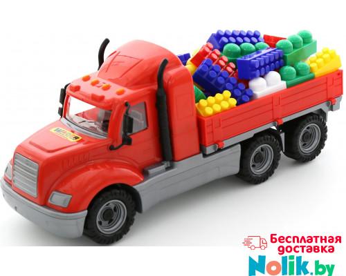Детская игрушка автомобиль бортовой + конструктор Супер-Микс - 60 элементов (в сеточке) Майк арт. 55514. Полесье в Минске
