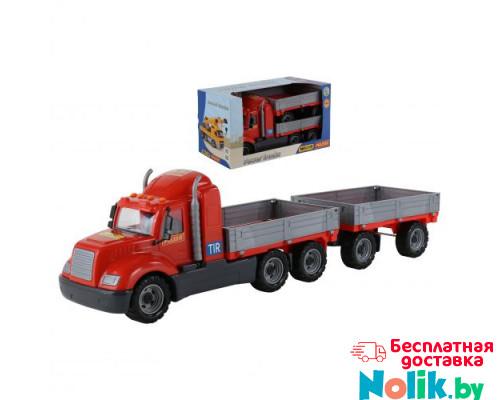 Детская игрушка автомобиль бортовой с прицепом (в коробке) Майк арт. 55538. Полесье в Минске