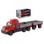 Детская игрушка автомобиль бортовой с прицепом (в коробке) Майк арт. 55538. Полесье