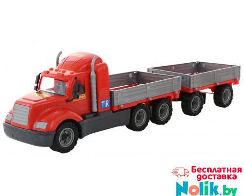 Детская игрушка автомобиль бортовой с прицепом (в сеточке) Майк арт. 55545. Полесье в Минске