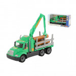 Детская игрушка автомобиль-лесовоз (в коробке) Майк арт. 55644. Полесье