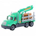 Детская игрушка автомобиль-лесовоз (в сеточке) Майк арт. 55651. Полесье