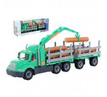 Детский автомобиль-лесовоз с прицепом (в коробке) Майк арт. 55668. Полесье