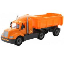 Детская игрушка автомобиль-самосвал с полуприцепом (в сеточке) Майк арт. 55637. Полесье