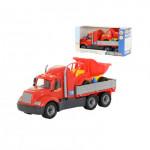 Детская игрушка автомобиль бортовой + автомобиль-самосвал (в коробке) Майк арт. 55484. Полесье