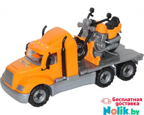 Детская игрушка автомобиль-платформа + мотоцикл гоночный Байк (в сеточке) Майк арт. 55682. Полесье в Минске