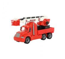 Детская игрушка автомобиль пожарный (в сеточке) Майк арт. 55620. Полесье