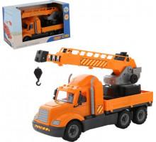 Детская машинка-кран с поворотной платформой (в коробке) Майк арт. 61966. Полесье