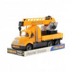 Детская игрушка автомобиль-кран с поворотной платформой (в лотке) Майк арт. 58515. Полесье