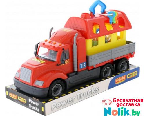 Детская игрушка автомобиль бортовой + домик для зверей (в лотке) Майк арт. 58461. Полесье в Минске