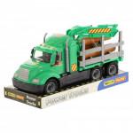 Детская игрушка автомобиль-лесовоз (в лотке) Майк арт. 58522. Полесье