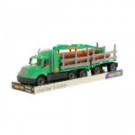 Детская игрушка автомобиль-лесовоз с прицепом (в лотке) Майк арт. 58539. Полесье
