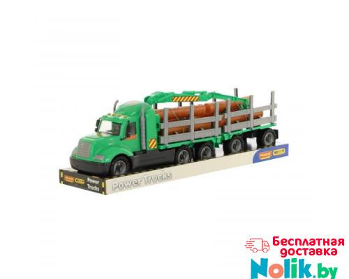 Детская игрушка автомобиль-лесовоз с прицепом (в лотке) Майк арт. 58539. Полесье в Минске