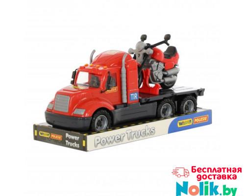 Детская игрушка автомобиль-платформа + мотоцикл гоночный Байк (в лотке) Майк арт. 58546. Полесье в Минске