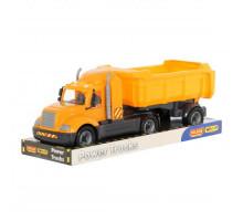 Детская игрушка автомобиль-самосвал с полуприцепом (в лотке) Майк арт. 58560. Полесье