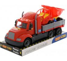 Детская игрушка автомобиль бортовой + автомобиль-самосвал (в лотке) Майк арт. 58447. Полесье