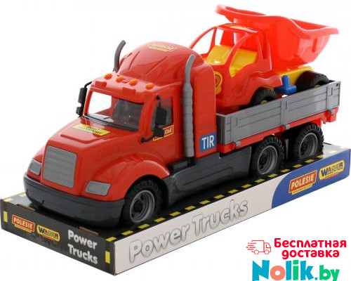 Детская игрушка автомобиль бортовой + автомобиль-самосвал (в лотке) Майк арт. 58447. Полесье в Минске