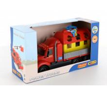 Детский автомобиль бортовой + домик для зверей (в коробке) Майк арт. 61997. Полесье