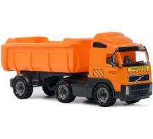 Детская игрушка автомобиль-самосвал с полуприцепом (в сеточке) Volvo арт. 8749. Полесье